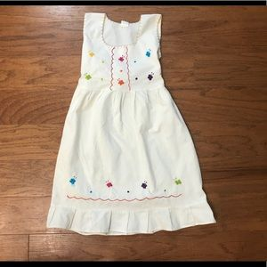 Vintage Mexican embroidered girls fiesta dress-8